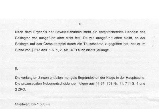 Ag Düsseldorf Weist Klage Von Rka Ab