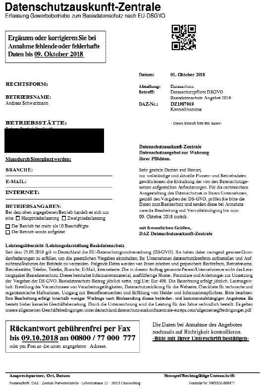 Datenschutzauskunft-Zentrale