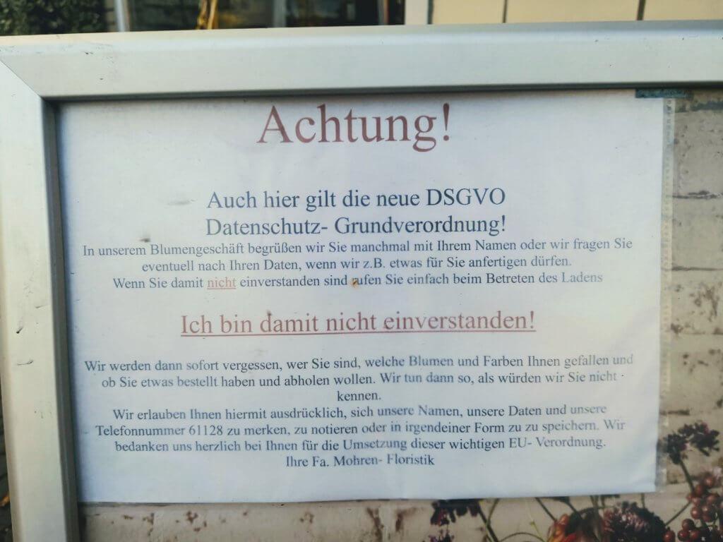 DSGVO Blumengeschäft