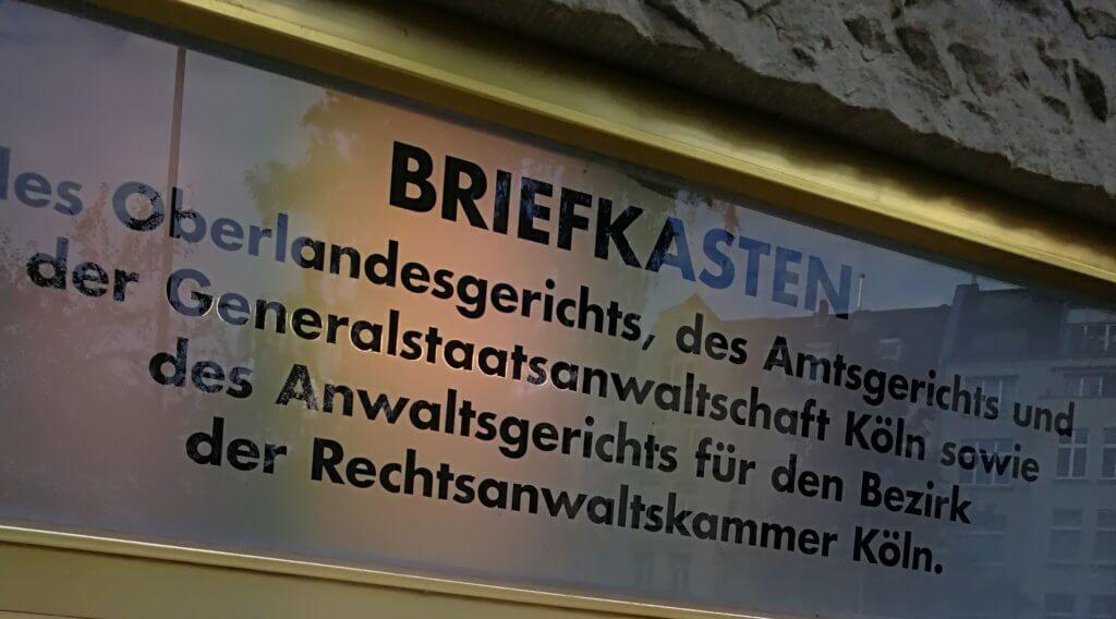 Nachtbriefkasten OLG Köln